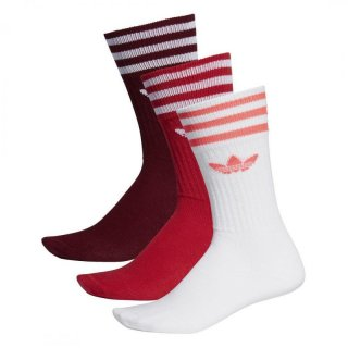 Adidas Originals Socken Solid Crew Sock - burgundy/scarlet/w