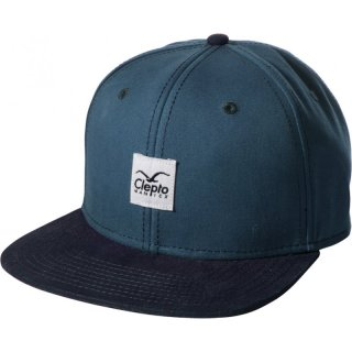 Cleptomanicx 6 Panel Snapback Cap Badger 2 - MJ blue