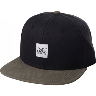Cleptomanicx 6 Panel Snapback Cap Badger 2 - pirate black