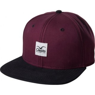 Cleptomanicx 6 Panel Snapback Cap Badger 2 - tawny port