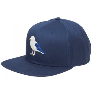 Cleptomanicx 6 Panel Snapback Gull2 - blau