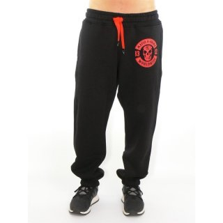 Mafia & Crime Jogginghose 1312 Patch - schwarz/rot