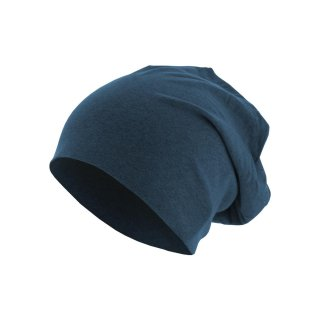 Mütze Schlappmütze Jersey Beanie meliert  - heather royal