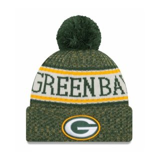 New Era Bommelmütze Team Knit Bubble Cuff Sport - Green Bay Packers
