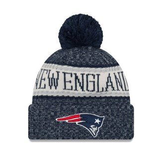 New Era Bommelmütze Team Knit Bubble Cuff Sport - New England Patriots