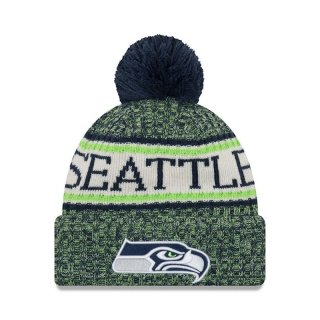 New Era Bommelmütze Team Knit Bubble Cuff Sport - Seattle Seahawks