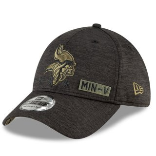 New Era Cap Salute To Service 39thirty schwarz - Minnesota Vikings