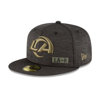 New Era Kappe Salute To Service 9Fifty schwarz - Los Angeles Rams