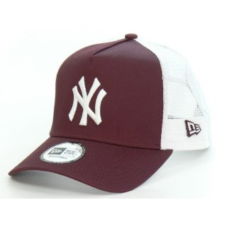 New Era Trucker Cap New York Yankees  - bordeaux/weiß