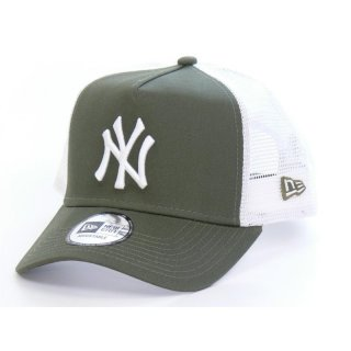 New Era Trucker Cap New York Yankees  - oliv/weiß
