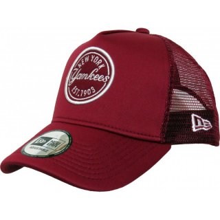 New Era Trucker Cap hft MLB NY Emblem - burgundy
