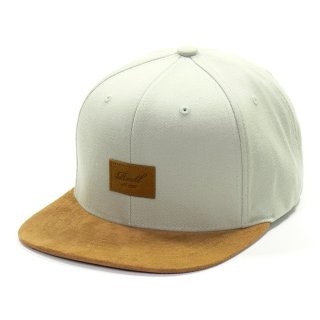 Reell 6 Panel Suede Snapback Cap  - sea glass