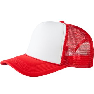 Trucker Cap Old School 2-Tone - rot/weiß