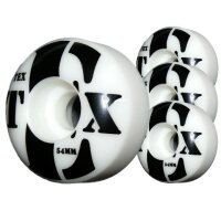 TEX Rollen logo 4er white black Wheels 54x30