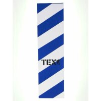 TEX Skateboard Griptape big stripes blue/white