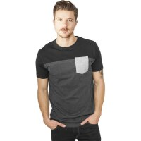 Urban Classics T-Shirt 3-Tone charcoal/black/grey