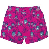 Cleptomanicx Boxershorts Aliens cranberry