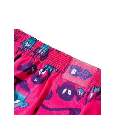 Cleptomanicx Boxershorts Aliens cranberry  S