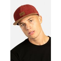 Reell 6 Panel Suede Snapback Cap