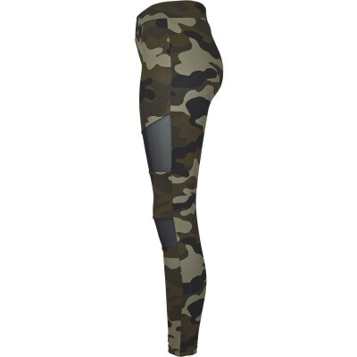 Urban Classics Leggings Woodcamo Mesh