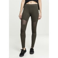 Urban Classics Leggings Mesh Tech oliv