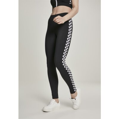 Urban Classics Leggings Side Check schwarz XS