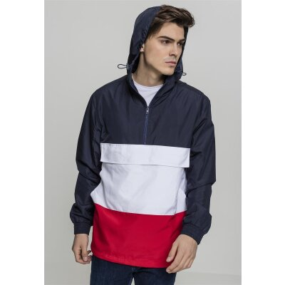 Urban Classics Windjacke Color Block Pull Over navy/firered