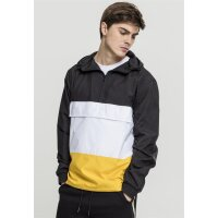 Urban Classics Windjacke Color Block Pull Over schwarz/gelb