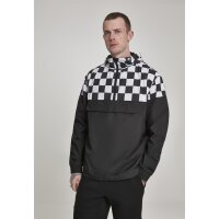 Urban Classics Check Block Pull Over schwarz/weiß