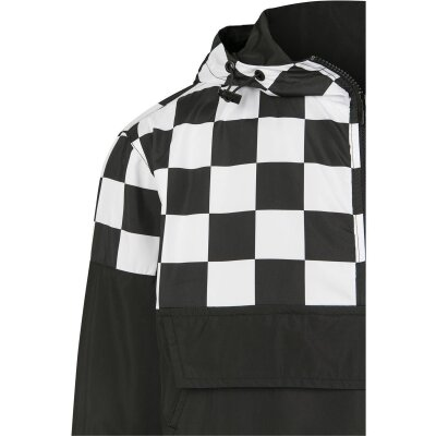 Urban Classics Windbreaker Check Block Pull Over schwarz/weiß XXL