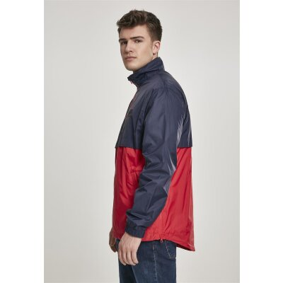 Urban Classics Windjacke Stand Up Collar Pull Over navy/firered