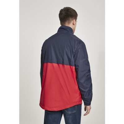 Urban Classics Windbreaker Stand Up Collar Pull Over navy/firered S
