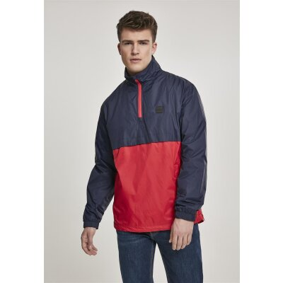 Urban Classics Windbreaker Stand Up Collar Pull Over navy/firered M