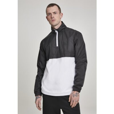 Urban Classics Stand Up Collar Pull Over schwarz/weiß L