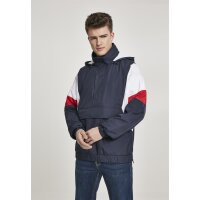 Urban Classics Windbreaker 3-Tone Pull Over navy/firered