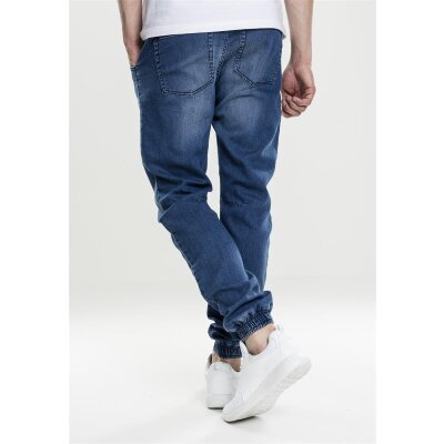 Urban Classics Jogging Knitted Denim Pant blau