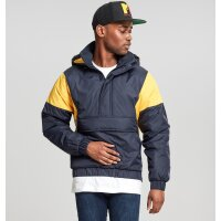 Urban Classics Windbreaker Pull Over navy/chrome yellow