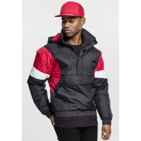 Urban Classics Windbreaker Pull Over black/firered