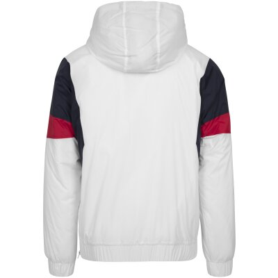 Urban Classics Windbreaker Pull Over weiß/navy/rot