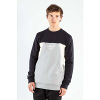 Reell Crewneck Sweatshirt Color Block schwarz/grau cream