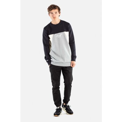 Reell Crewneck Sweatshirt Color Block schwarz/grau cream M