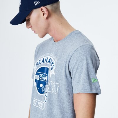 New Era T-Shirt Helmet NFL Seattle Seahawks grau L
