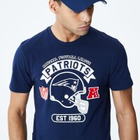 New Era T-Shirt Helmet NFL Patriots blau