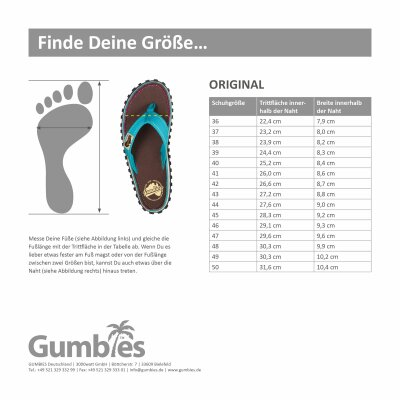 Gumbies Zehentrenner Sandale Pacific Red rot