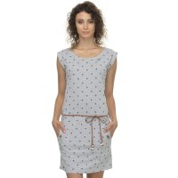 Ragwear Damen Kleid TAG DOTS light grey