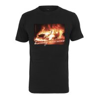 Mister Tee T-Shirt Burning Car Tee schwarz