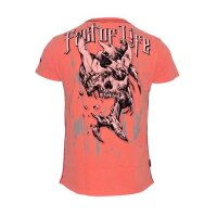 Fact Of Life T-Shirt Broken Skull fluro coral