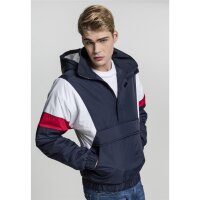 Urban Classics Windbreaker Pull Over navy/weiß/rot