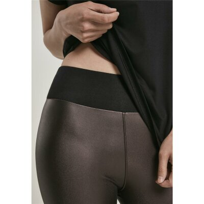 Urban Classics Leggings High Waist Faux Leather redwine S