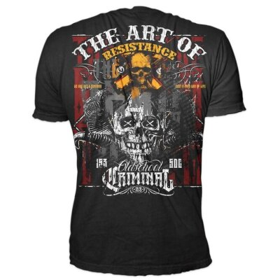 Oldschool Criminal T-Shirt Art of Resistance schwarz